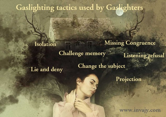 gaslighting tactics used by gaslighters