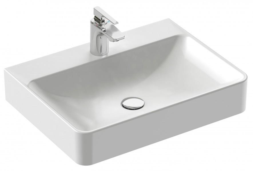 vasque a poser 60 x 45 cm 1 trou de robinetterie