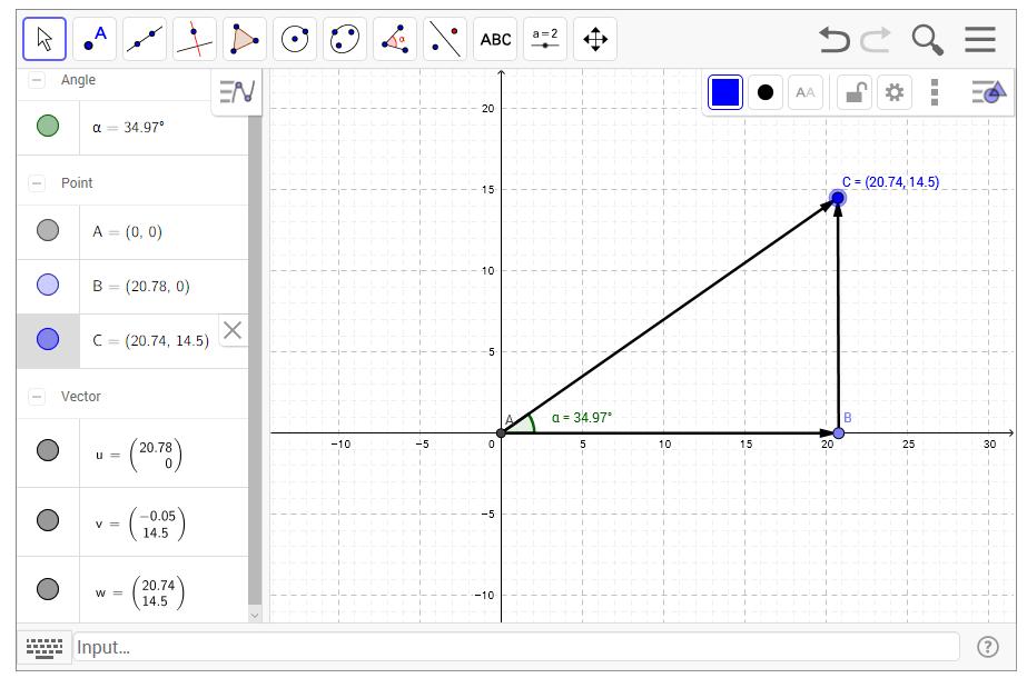 Vector with same magnitude