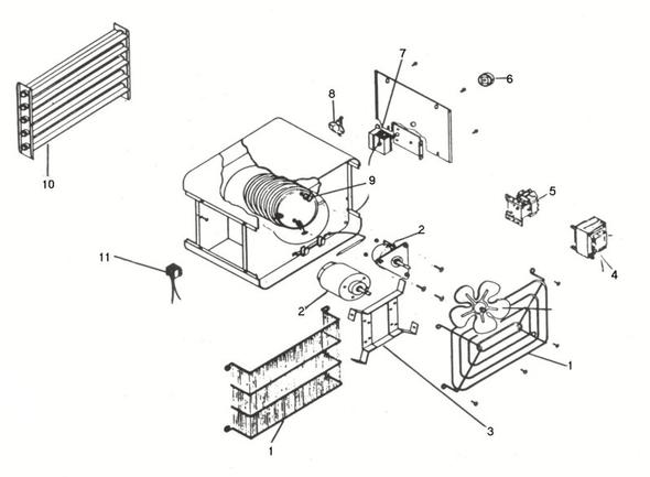 magnetek motor wiring diagram for phone jack pièces pour aérotherme commercial   inventex