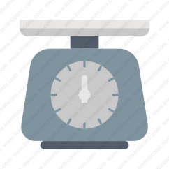 Kitchen Weight Scale Paint Download Tool Kitchenware Icon