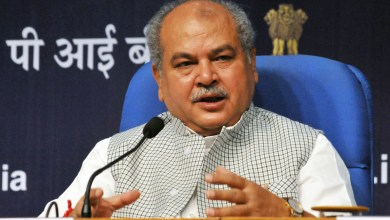 narendra singh tomar addressing a press conference after launching the swachh sarvekshan gramin 2017 in new delhi