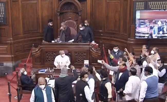 k7ds2fko rajya sabha disrupted by opposition parties