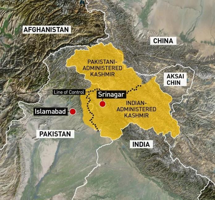 map kashmir india pakistan