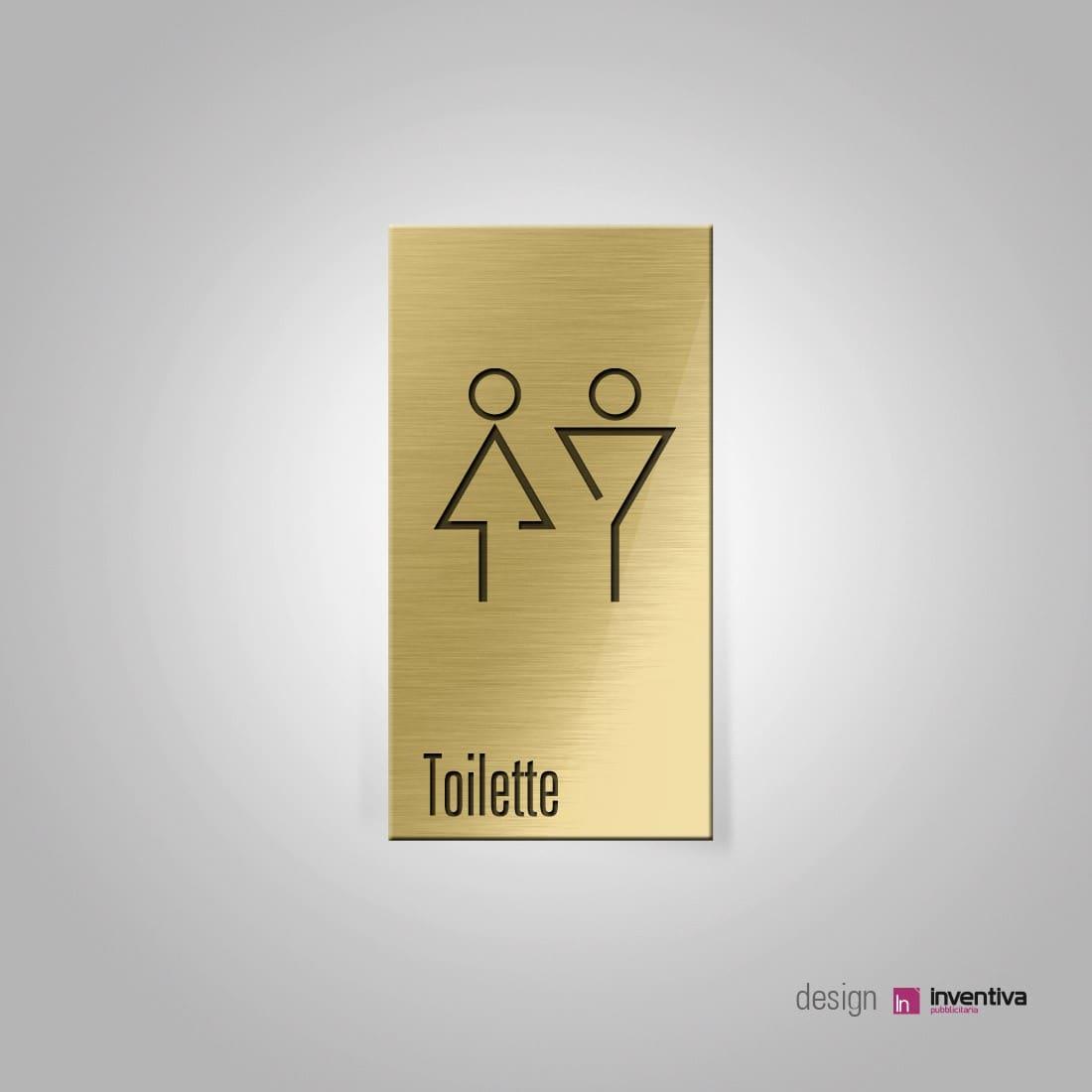 Segnaletica toilette  cartelli in stile Drink