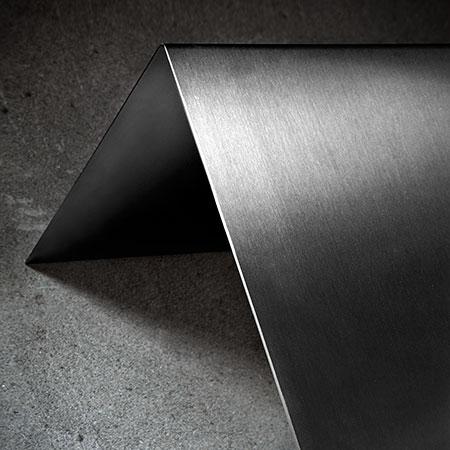 Libreria in acciaio inox Design minimale Libreria