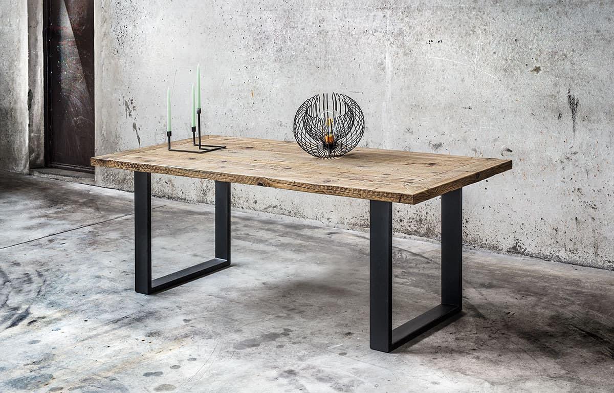 Tavolo in legno massello di recupero  Made in Italy