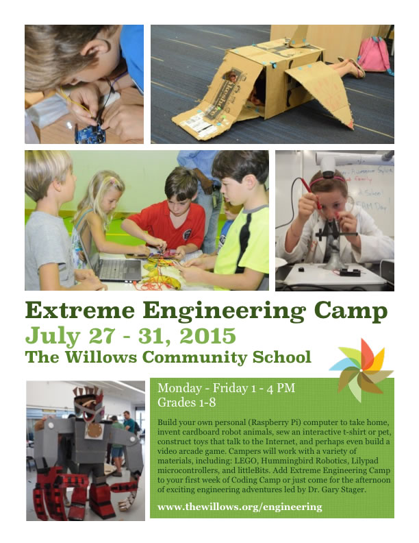 Willows engineering camp flyer
