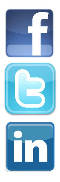 competitive advantage: promote yourself on Facebook, Twitter, LinkedIn