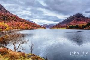 Autumn Colours showing around Loch Leven