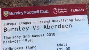 Burnley v Aberdeen Ticket