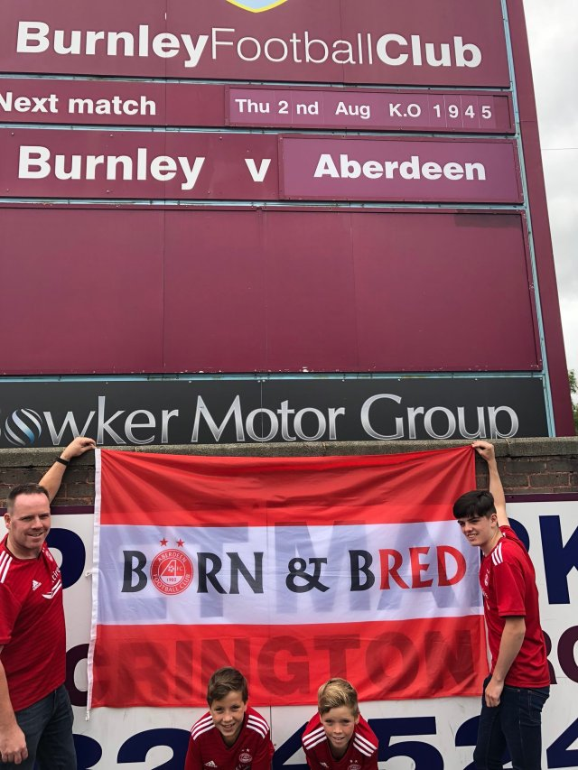 @AndyHunter1972 - We have arrived- @StuartHunter_73 - with Grant-Kieran and Kyle #Standfree