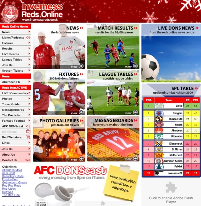 Inverness Reds Website