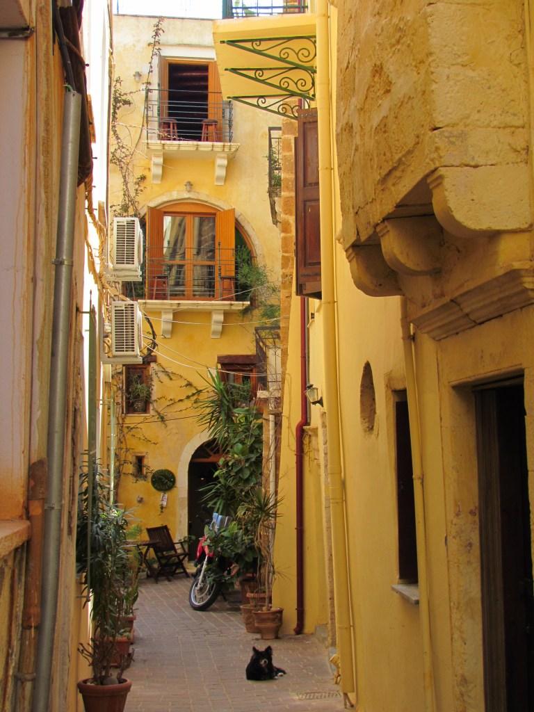 Narrow street, old chania