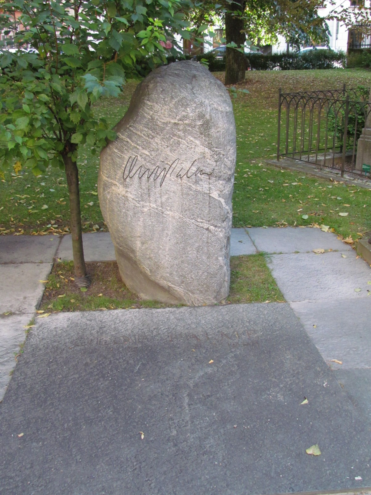 Olof Palme's grave marker