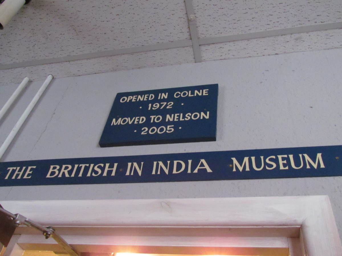 Sign for British in India Museum