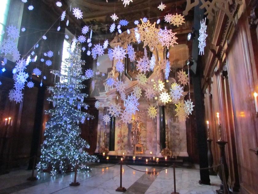 Christmas scene in Chatsworth