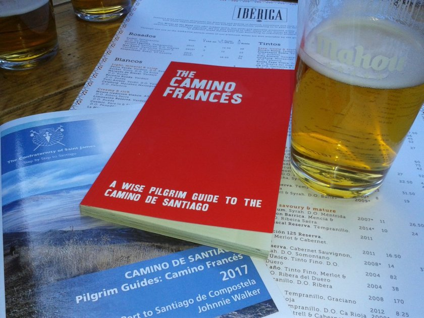 Camino guidebooks and beer