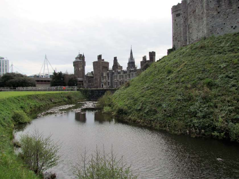 Cardiff Castle - moat