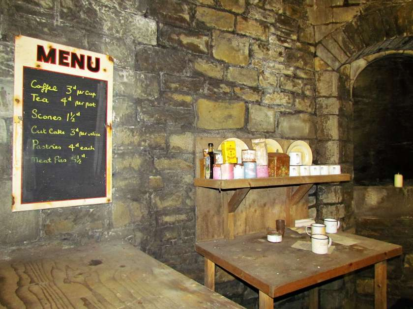 Cardiff Castle - cafe in the bomb shelter