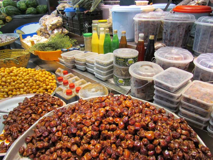 Muscat Fish Market - date stall in the fruit and veg market