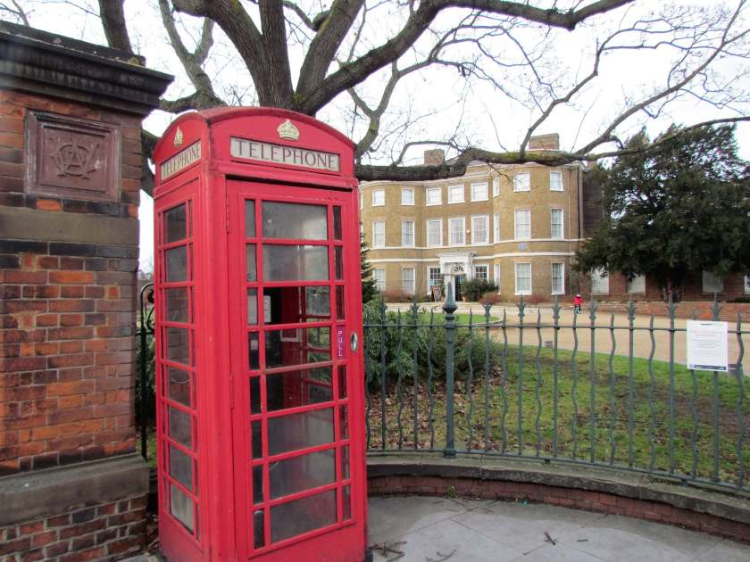 A Day in Walthamstow - William Morris house and red telephone box - Inverted Sheep