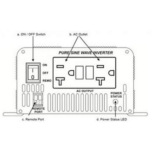 Go Power GP-SW300-24, 300 Watt Pure Sine Wave Inverter