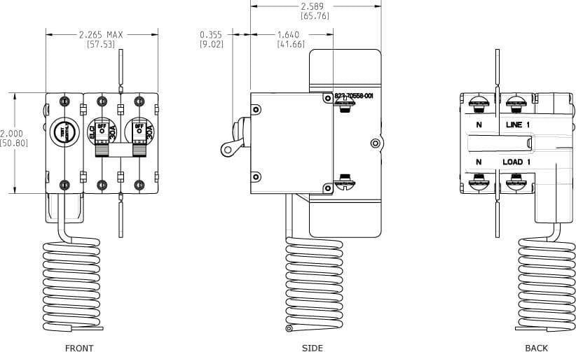 Blue Sea Systems, 3106100, A-Series ELCI Main Circuit
