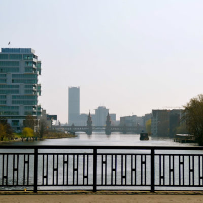 View on the Spree and Oberbaumbrücke