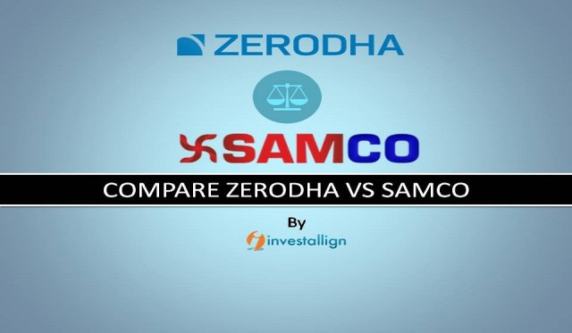 Zerodha vs Samco Brokerage Charges