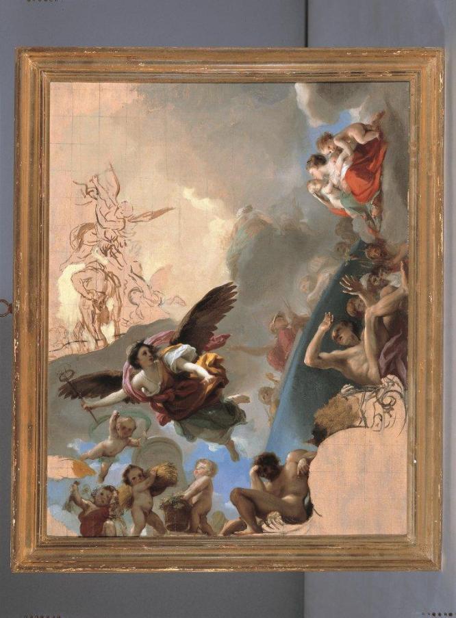 "Fig. 9-Antonio Rafale Mengs: ""Boceto para La apoteosis de Trajano""."