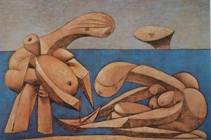 Pablo Picasso: Figuras en la playa. Colección Peggy Guggenheim, Venecia.