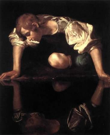 Caravaggio- Narciso. Galería Nacional de Arte Antiguo, Roma.