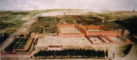 Jusepe Leonardo: Vista de los jardines y el Palacio del Buen Retiro, ca. 1636. Patrimonio Nacional, Madrid.