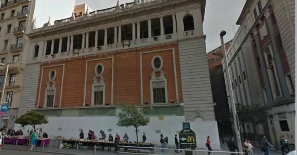 Estado actual del Palacio de la Música, tapiado