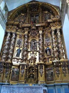 Retablo principal dedicado a San Juan Bautista