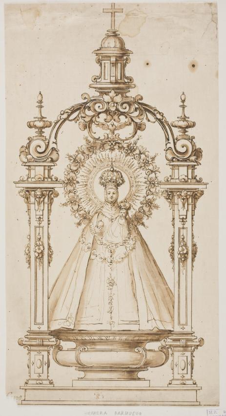 Trono de la Virgen de Atocha. Museo Nacional del Prado
