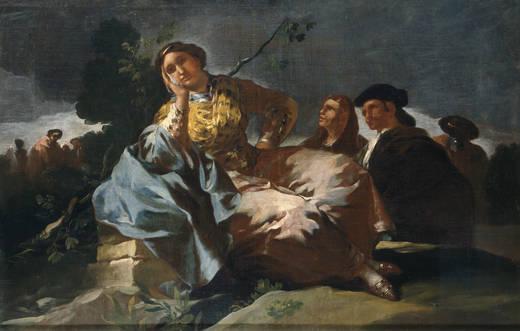 Francisco de Goya: La Cita, 1777-1780. Museo Nacional del Prado, Madrid