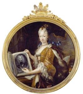 Jacinto Meléndez: Retrato de Isabel de Farnesio. Biblioteca Nacional de España, Madrid.