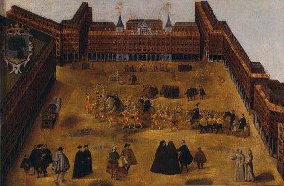 Anónimo: Plaza Mayor de Madrid. Museo de Historia, Madrid.
