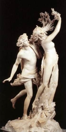 Gian Lorenzo Bernini: Apolo y Dafne. Galleria Borghese, Roma.