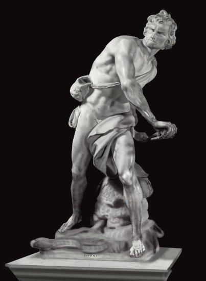 Gian Lorenzo Bernini: David. Galleria Borghese, Roma.