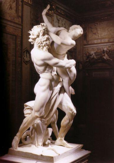 Gian Lorenzo Bernini: Rapto de Proserpina. Galleria Borghese, Roma.