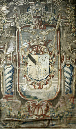 Tapiz repostero, manufactura de Bruselas, siglo XVII. Museo Cerralbo, Madrid.