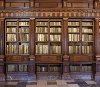 Detalle de una de las librerías de la biblioteca de El Escorial.