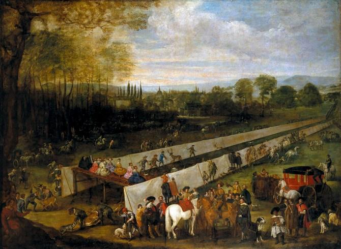 Juan Bautista Martínez del Mazo: Cacería del tabladillo en Aranjuez. Museo Nacional del Prado, Madrid.