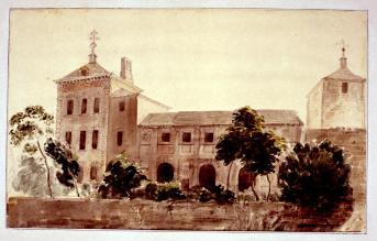 Valentín Carderera: Vista del Sitio de Valsaín, siglo XIX. Madrid, Museo Lázaro Galdeano.