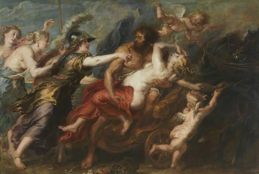 Pedro Pablo Rubens y taller: Rapto de Proserpina. Madrid, Museo Nacional del Prado.