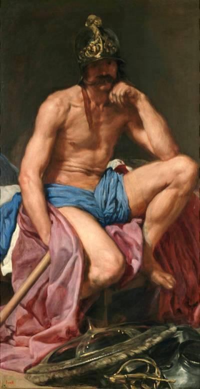 Diego Rodríguez de Silva y Velázquez: Marte. Madrid, Museo Nacional del Prado.