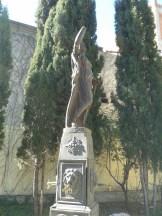 Fuente en el patio del Hospitalillo de San José en Getafe.